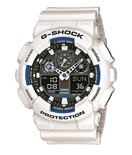 Casio G-SHOCK Orologio 20 BAR, Bianco, Analogico - Digitale, Uomo, GA-100B-7AER