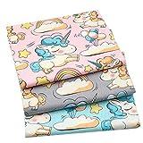 3 Pezzi 50 cm x 160 cm Animal Cartoon Cotone Tessuto per Patchwork Quilting Cucire Cuscini Biancheria da Letto del Bambino Materiale Decorativo
