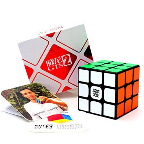 CuberSpeed MoYu WeiLong GTS2 Black 3x3 Magic Cube MoYu WeiLong GTS V2 3x3x3...