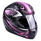 Typhoon Women's Full Face Motorcycle Helmet DOT - Same Day Shipping (Matte Pink, Large)