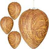 Mood Lab Wasp Nest Decoy - 4 Pack - Hanging Fake Wasp Nest