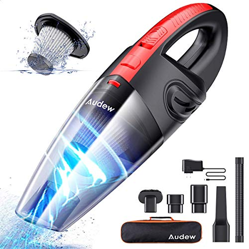 Audew Cordless Handheld Vacuum, Upgraded Hand Vacuum Cordless Rechargeable Pet Hair Vacuum, Car Vacuum Cleaner for Home and Car Cleaning