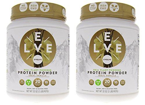 Cytosport Evolve Vegan Plant Protein Powder Ideal Vanilla 2-2 lb (907 g) Containers
