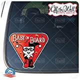 Little Harley Quinn'Baby On Board' Sign Vinyl Decal Sticker for Cars/Trucks