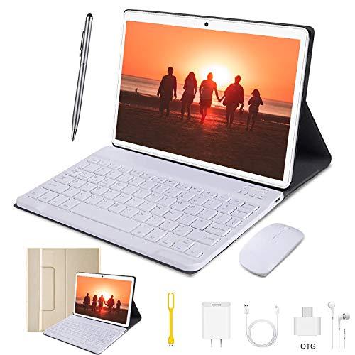 4G Tablet 10.1 Pollici WiFi 4GB RAM 64GB Memoria 3 Slot Android 9.0 Quad-Core Batteria 8000mAh Dual...