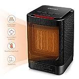 POTENZA REGOLABILE: Ci sono 2 livelli di potenza da scegliere, HIGH/LOW, come 950W e 450W di potenza. Inoltre c'è anche il modo di ventilatore per salvare la energia se è già sufficiente caldo. RISPARMIO ENERGETICO: Il riscaldatore elettrico è incorp...
