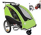 PAPILIOSHOP FOX Remorque à vélo pliable poussette chariot pour 1 enfant