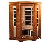 Dynamic 'Heming' 2-person corner Low EMF Far Infrared Sauna