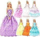 """❤️7 Vestiti per la bambola 28 - 30cm/11.5inch"""" Bambola. Fatti a MANO: L'abito è fatto a mano per garantire artigianalità. ❤️Include 7 vestiti per 11.5 Pollici 28 - 30 CM, non include la bambola. Tutti vestiti sono selezionati casualmente da un grande..."""