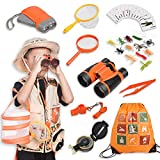 Joyjoz 37Pcs Kit Exploration Enfant,Jumelles pour Enfants, Jeux de Rôles...