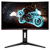 AOC C24G1A 24' Curved Frameless Gaming Monitor, FHD 1920x1080, 1500R, VA, 1ms MPRT, 165Hz (144Hz supported), FreeSync Premium, Height adjustable Black