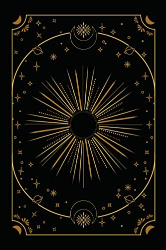 Tarot Journal, 100 Day 3 Spreads Reading, Black and Gold...
