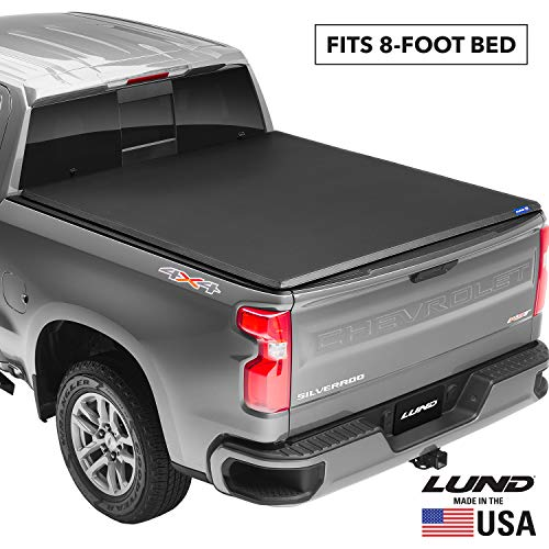Lund Genesis Tri-Fold, Soft Folding Truck Bed Tonneau Cover | 95074 | Fits 2009 - 2014 Ford F-150 8' Bed (96')