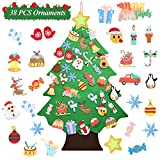 Felt Christmas Tree - 3.5 FT Wall Felt Christmas Tree for Kids with 38 Pcs Ornaments, DIY Xmas Gifts for Christmas Decorations