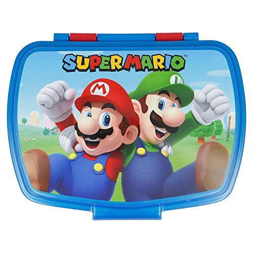 2728; vuelta al cole Super Mario; sandwichera rectangular; producto libre de BPA
