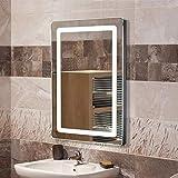 Miroir de Salle de Bain, Miroir Lumineux LED avec Bouton Tactile, pour la Maison,...