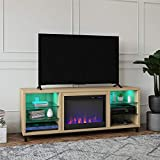 Ameriwood Home Lumina Fireplace TV Stand for TVs up to 70' (Blonde Oak)