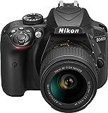 Nikon D3400 + AF-P 18-55VR Digital SLR Camera & Lens Kit - Black (Electronics)