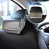 Car Air Purifier and Ionizer - Car Air Freshener with HEPA Filter, Odor Eliminators, Ionizer, UV Light, Activated Carbon and Aromatherapy Essential Oil Diffuser - Powerful Dust Smell Smoke Remover