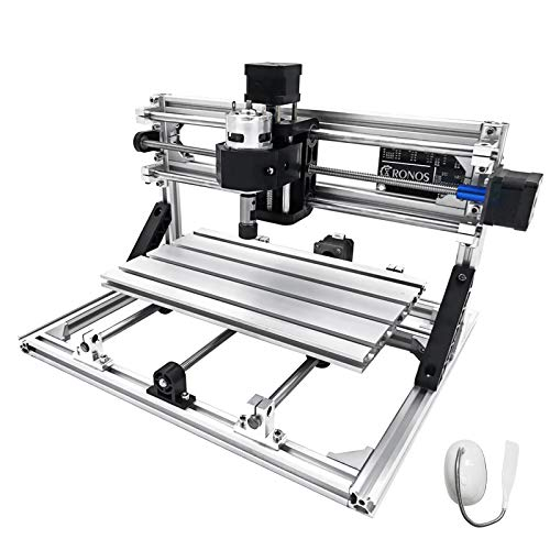 Techlifer 3018 cnc graviermaschine fräse 3 achse CNC Router Machine Er11 + 5MM milling machine cnc 300X180X45Mm engraving machine kit (Er11)