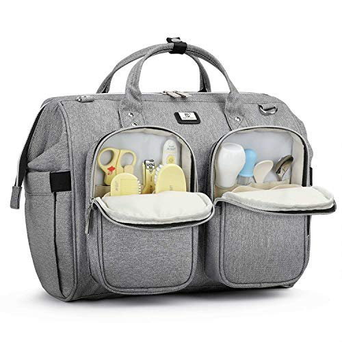 Versatile Diaper Bag Tote with Multiple Separate Pockets and Changing Pad for Dad and Mom