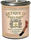 Retique It Wood'nStain Liquid Wood Gel Stain for Furniture, Cabinets, Flooring, Cement, Front, Garage Doors Even Decking, 8 oz, Primer