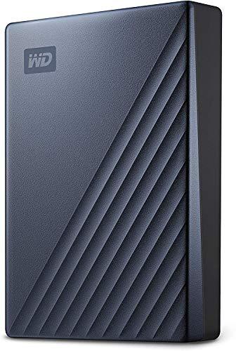 WD - My Passport Ultra 5To Bleu - Disque Dur Externe Portable USB-C, compatible PC , Xbox et PS4