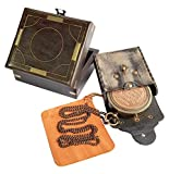 Brass Nautical - Thoreau's Go Confidently Brass Compass with Leather Carry Pouch and Gift Box, Graduation Day, Confirmation Day, Baptism Gifts, New Year Gift, Birthday, Anniversary, Encouragement