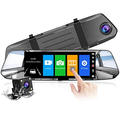 【2021 Version】 CHORTAU Spiegel Dashcam 7 Zoll Touch Screen Full HD...