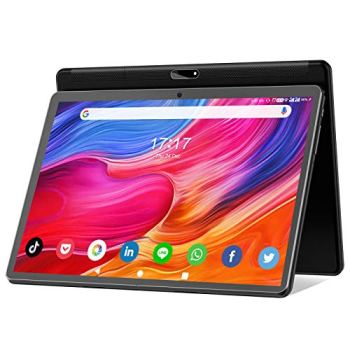 Tablet 10 inch Android 10 Tablet 2021 Latest Update Octa-Core Processor with 32GB Storage, Dual 13MP+5MP Camera, WiFi, Bluetooth, GPS, 128GB Expand Support, IPS Full HD Display (Black)