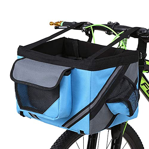 YODZKJ Borsa per portabiciclette per Animali Domestici Cuccioli di Cani Gatti Seggiolino per Bici da Viaggio per Piccoli Animali per Escursionismo Accessori per cestini da Ciclismo