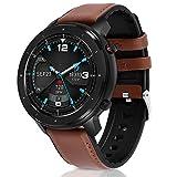Fullmosa Smartwatch für Herren Damen, Sportuhr Fitness Tracker für iOS Android Handy, IP68 Wasserdicht Sportuhr mit Pulsuhren, Schwarz Smart Armbanduhr mit Schrittzähler