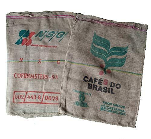 AlmaStore Sacchi di Juta da Caffe Usati - Confezione da 20 Pezzi - per la Decorazione della casa, Giardino, Divano - Sacco Brasile di Iuta caff
