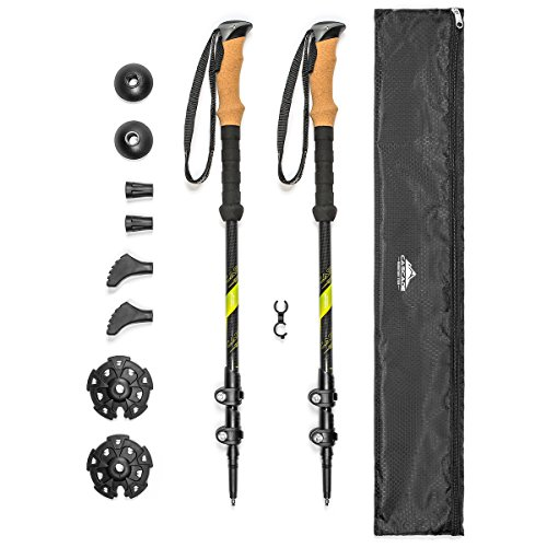 Cascade Mountain Tech Carbon Fiber Adjustable Trekking Poles