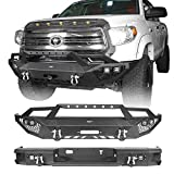 Hooke Road Tundra Front Winch Bumper & Rear Step Bumper Compatible with Toyota Tundra 2014 2015 2016 2017 2018 2019 2020 2021 Pickup Truck