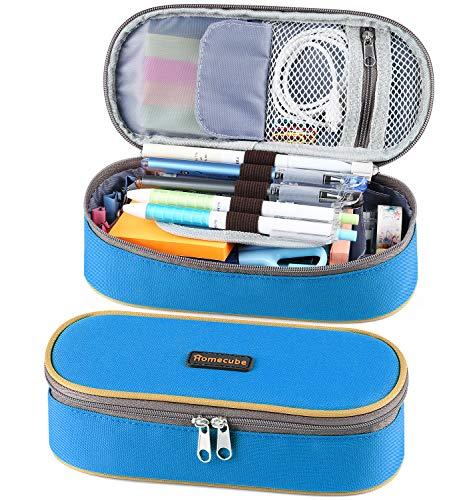 Homecube Astuccio portamatite, spazioso, per cancelleria di studenti, colore verde, spazioso, per...