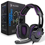 SADES SA930Plus Stereo Gaming Headset Noise Isolating Headphones with Mic,Volume-Control, Bass, Soft Memory Earmuffs for PS4 Pro Xbox One PC Computers Laptop Mac Phones Tablet Nintendo Switch Games