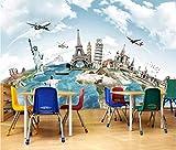 Papier Peint 3D Voyage autour du monde Et Chambre Décoration Murale
