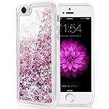 Caka iPhone 5 5S SE Case, iPhone SE Glitter Case Luxury Fashion Bling Flowing Liquid Floating Sparkle Glitter Soft TPU Case for iPhone 5 5S SE (Rose Gold)