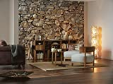 Stone Wall Huge Wall Mural 8-727 by Komar 12 Feet Wide x 8 Feet 4 Inch High Photo Mural