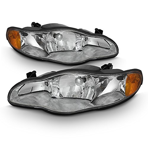 ACANII - For 2000-2005 Chevy Monte Carlo Headlights Headlamps 00 01 02 03 04 05 Replacement Driver + Passenger Side