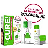 Lice Treatment Kit by Lice Clinics-Guaranteed to Cure Lice, Even Super Lice-Safe, Non-Toxic, Pesticide-Free (Complete Head Lice Treatment & Lice Removal Kit with Lice Shampoo, Metal Lice Comb & More)