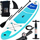 FUNPENY Inflatable Stand Up Paddle Boards, 10' x 32' x 6' Non-Slip Paddle Board for Adults and Youth, Wide Paddleboard for Yoga with SUP Accessories and Backpack