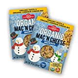 Pastabilities Organic Kids Snowman Mac and Cheese, Fun Shaped Noodles with Cheddar Cheese Powder for Kids and Holidays, Non-GMO Pasta (10 oz, 4 Pack)