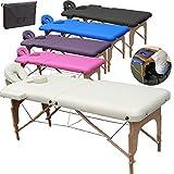 BELTOM Table de Massage 2 Zones Portables Cosmetique lit esthetique Pliante...