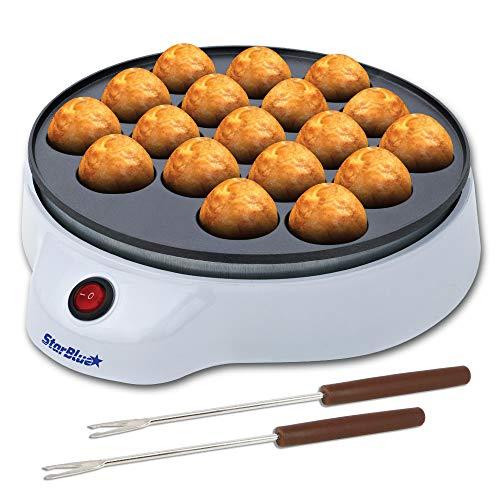 StarBlue Takoyaki Maker kostenlosen Takoyaki-Spießchen - Elektrische Maschine zur Herstellung japanischer Octopus Bällchen, UK Plug, Europa Adapter Enthalten
