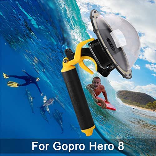 FEIMUOSI per GoPro Dome Port, Cupola Impermeabile GoPro Hero 8, Custodia Impermeabile per Accessorio GoPro con Trigger Gun e Fotografia Subacquea di Copertina.