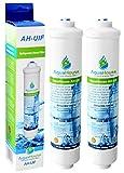 2x AquaHouse AH-UIF Compatible Filtre à eau universel pour réfrigérateur Samsung LG Daewoo Rangemaster Beko Haier etc Réfrigérateur Congélateur