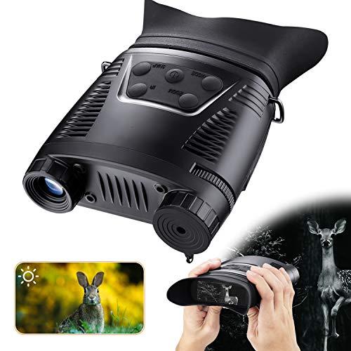 HUTACT Binocolo Infrarossi Visione Notturna HD Digitale, Scheda TF da 32 GB, Schermo LCD da 2' Visione Notturna Binocolo Infrarosso Registra portata 200m di Giorno/Notte Registra Immagini e Video