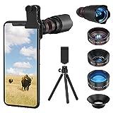 Selvim Kit Obbiettivi Smartphone, Versione Aggiornata con Lenti Blu-Ray per Migliore Risoluzione, Obbiettivo Macro 25x, Grandangolare 0.5X, Fisheye 235,...